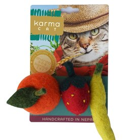 Dharma Dog DHARMA DOG Fruit Cat Toy 3pk
