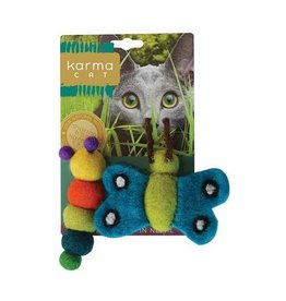 Dharma Dog DHARMA DOG Catepillar & Butterfly Cat Toy 2pk