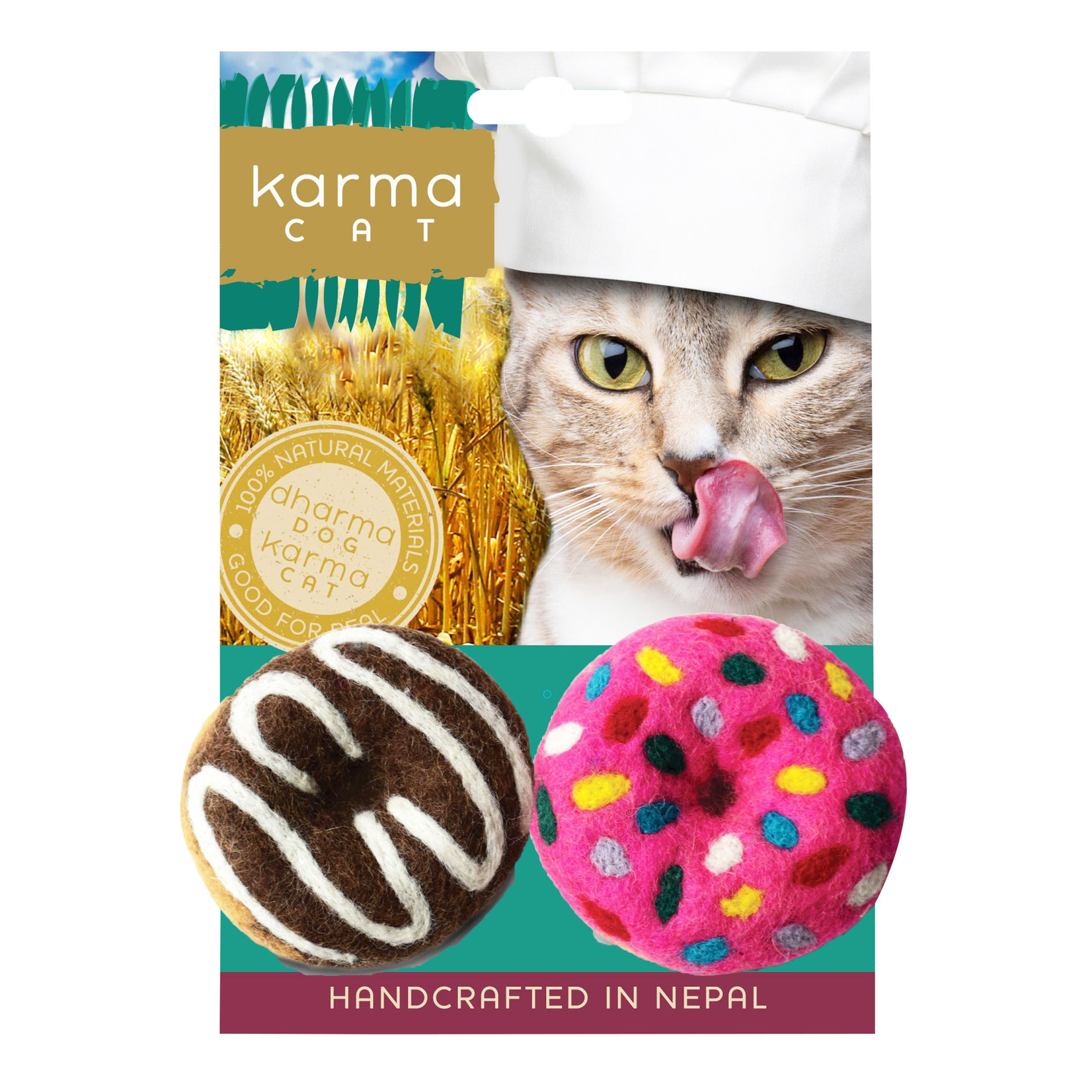 Dharma Dog Dharma Dog Donuts Cat Toy 2pk