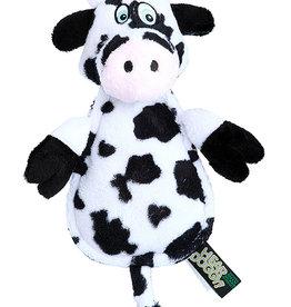 Worldwise/QPG/GoDog QPG Hear Doggy Mini Flats Cow Dog Toy