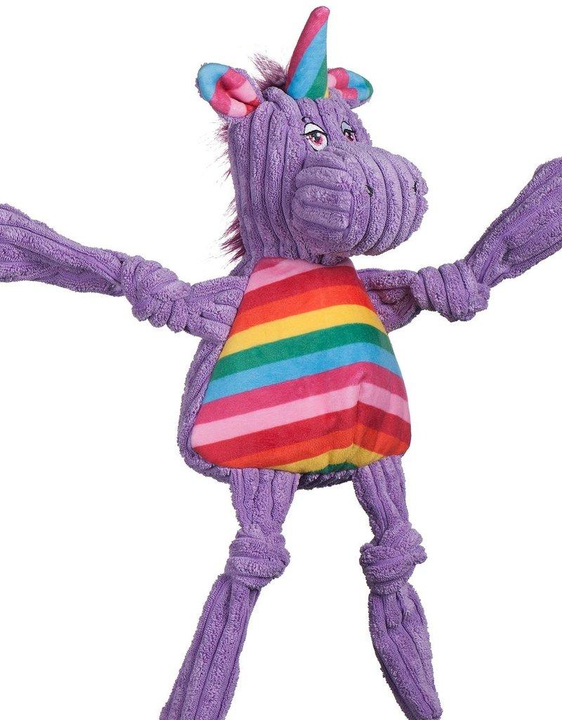 Hugglehounds HH Rainbow Knotties Unicorn Lg