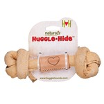 """Hugglehounds HH Leather Knotted Bone Lg 12"""""""