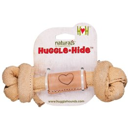 Hugglehounds HH Leather Knotted Bone Lg 12""
