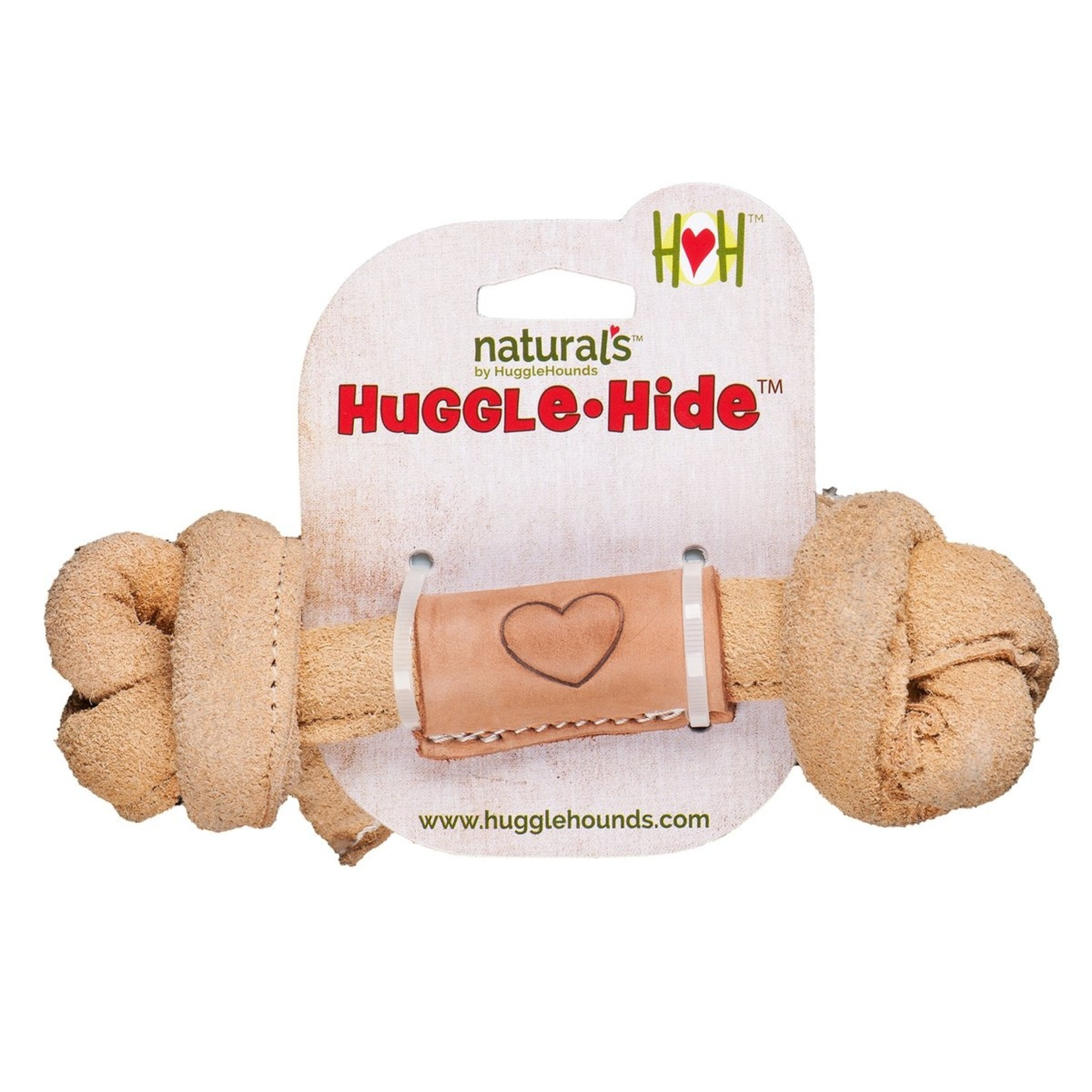"""Hugglehounds HH Leather Knotted Bone Sm 4"""""""