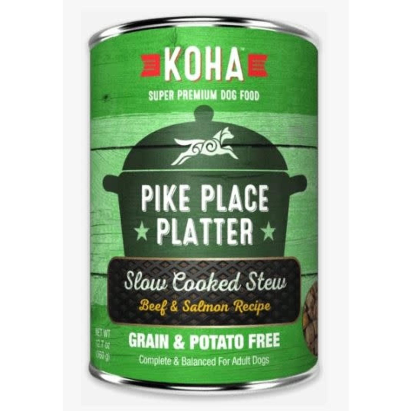 Koha KOHA Pike Place Platter Stew Beef & Salmon Canned Dog Food 12.7oz