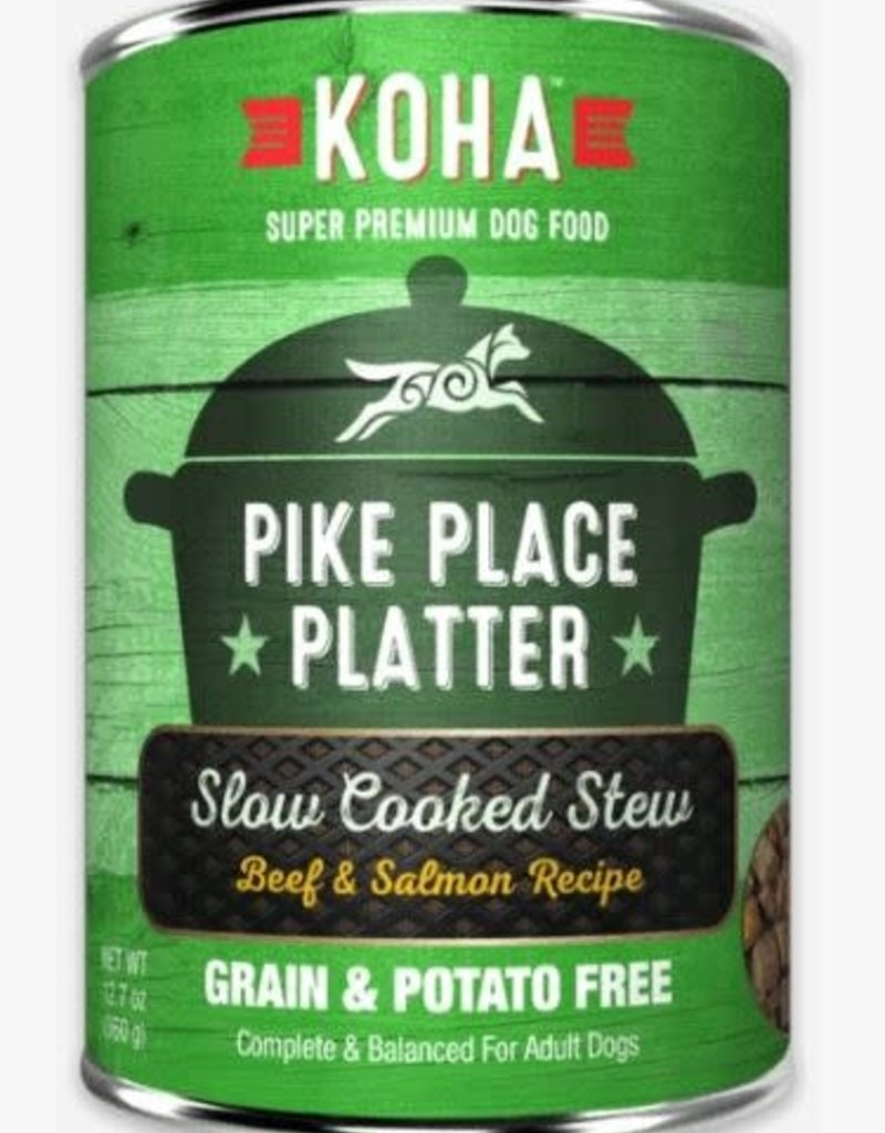 Koha KOHA Pike Place Platter Stew Beef & Salmon Canned Dog Food 12.7oz