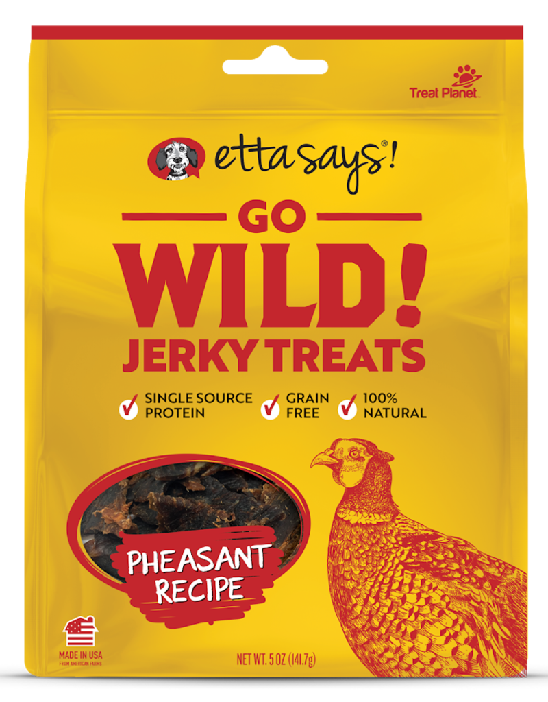 Etta Says Etta Says! Go Wild Pheasant Dog Jerky Treats 5oz