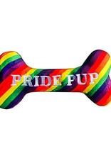 """Lulubelles LULUBELLES Power Plush Pride Pup Bone Dog Toy SM 8.5"""""""