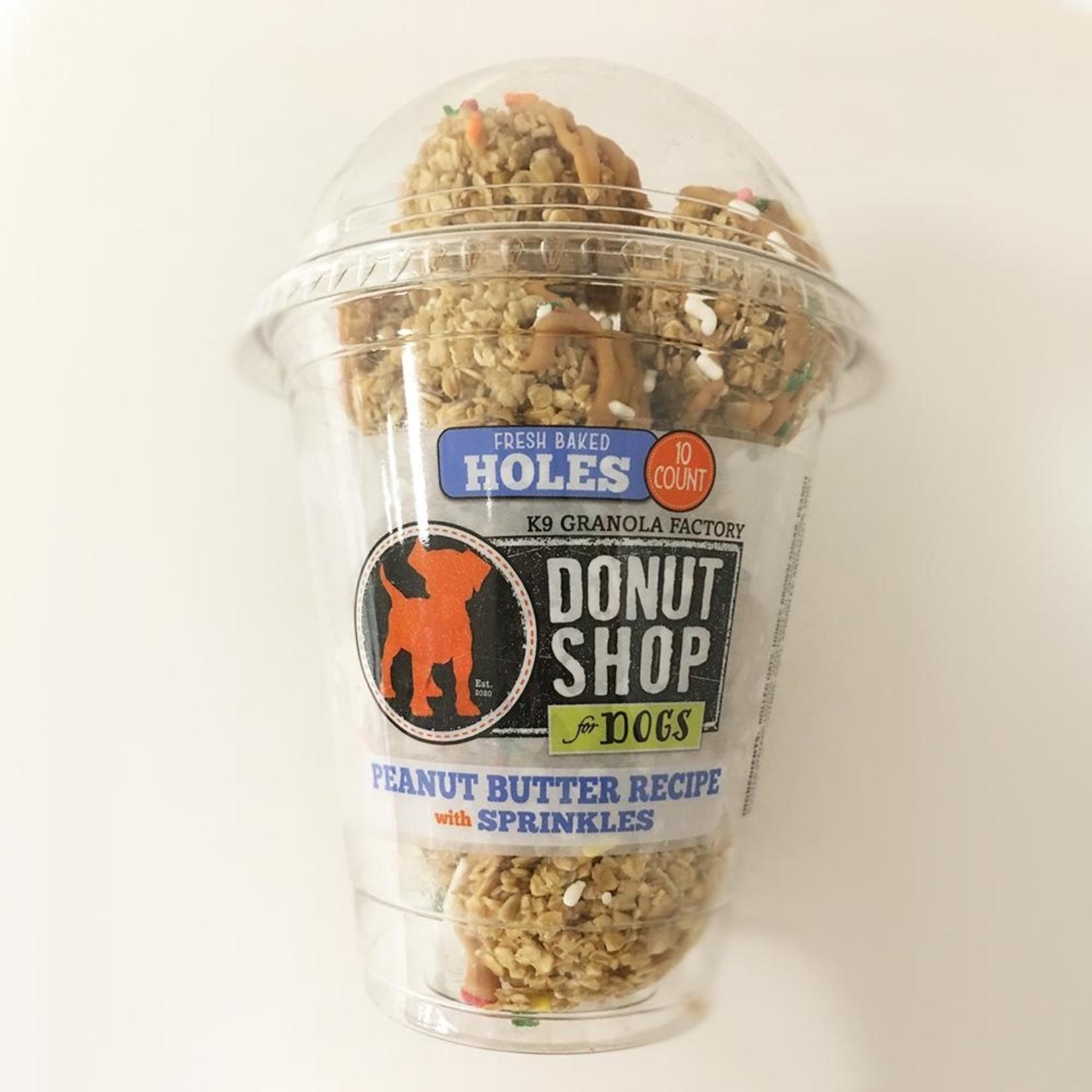 K9 Granola Factory K9 Granola Factory Donut Holes PB & Sprinkles Dog Treats 15ct