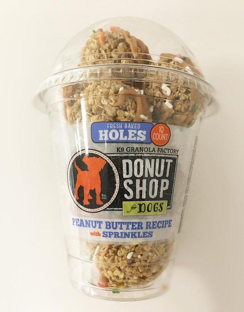 K9 Granola Factory K9 Granola Factory Donut Holes PB & Sprinkles Dog Treats 10ct