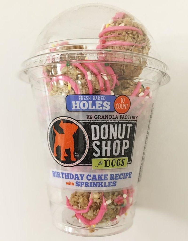 K9 Granola Factory K9 Granola Factory Donut Holes Bday Cake & Sprinkles Dog Treats 15ct