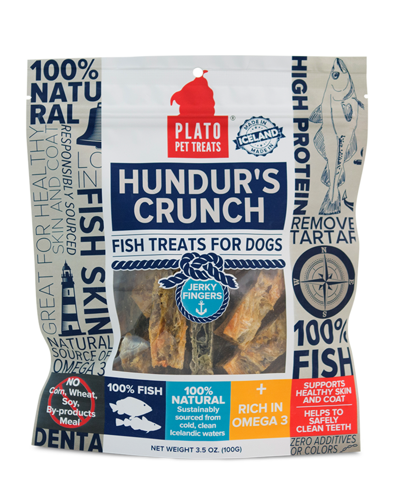 Plato Pet Treats PLATO Hundur's Crunch Jerky Fingers Dog 3.5oz