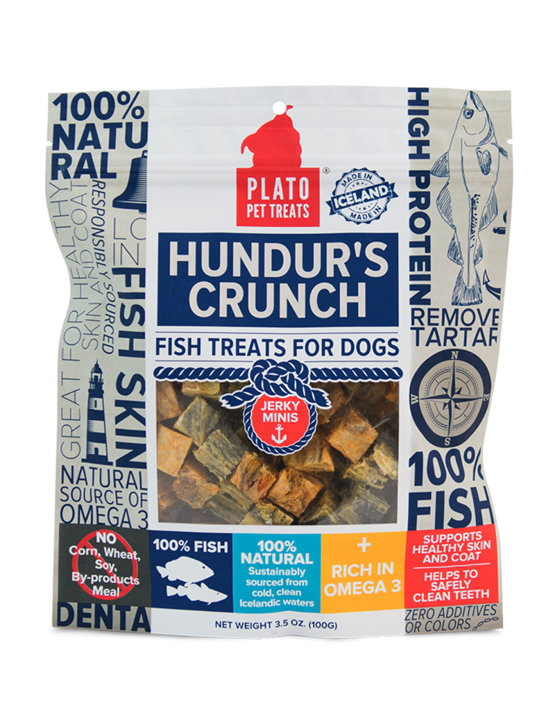 Plato Pet Treats PLATO Hundur's Crunch Jerky Minis Dog 3.5oz