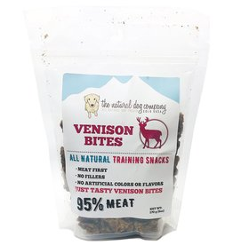 The Natural Dog Company The Natural Dog Company 95% Venison Bites Training Dog Treats  6oz