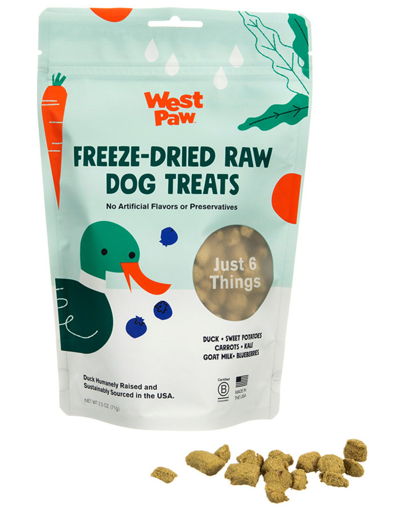 West Paw WESTPAW Freeze Dried Duck Superfood Dog Treats 2.5 oz