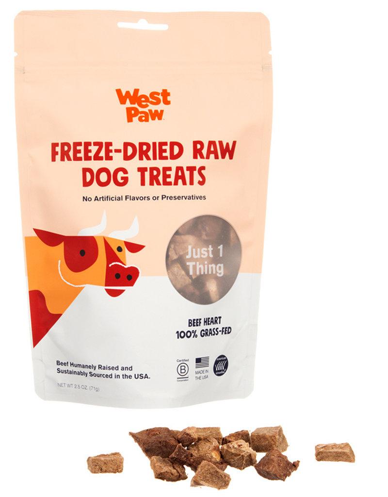 West Paw WESTPAW Freeze Dried Beef Hearts Dog Treats 2.5oz