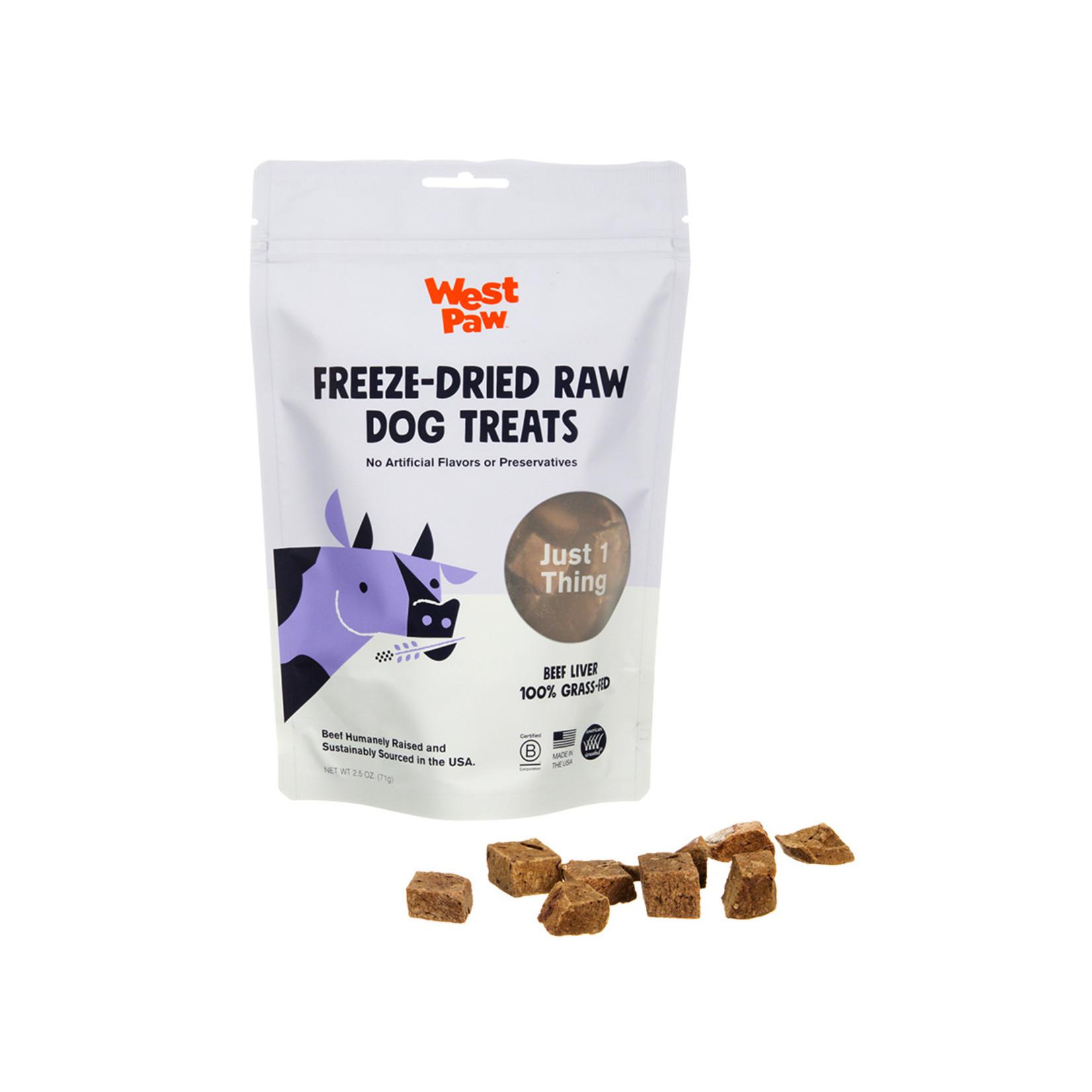 West Paw WESTPAW Freeze Dried Beef Liver Dog Treats 2.5oz