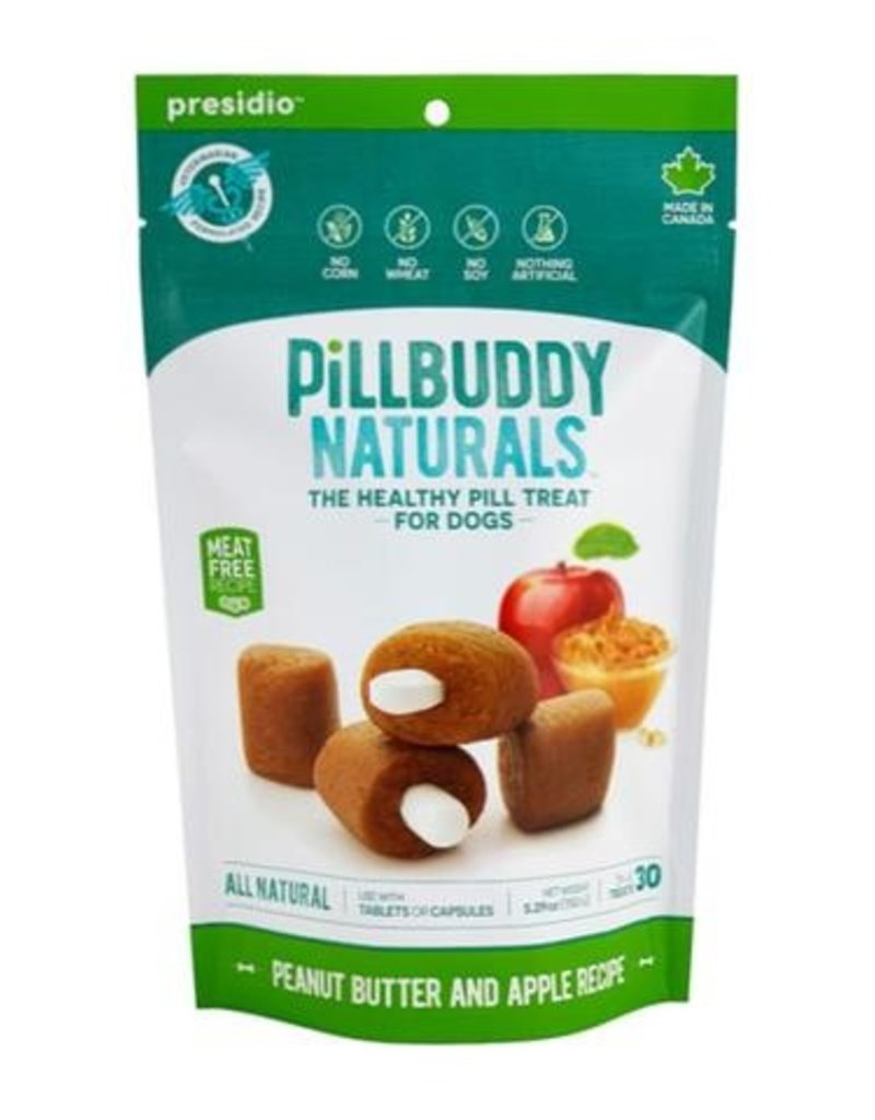 Complete Natural Nutrition Complete Natural Nutrition Pill Buddy Naturals Peanut Butter & Apple Dog Treat 30pk