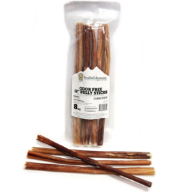 "The Natural Dog Company The Natural Dog Company Bully Sticks Odor Free Dog 12"" Bulk Bag 8oz"