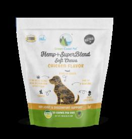 Green Coast Pet Green Coast Pet Hemp+SuperBlend Chicken Dog Treats 30ct