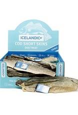 Icelandic Plus Icelandic Plus Cod Short Skin Strip Dog Chew 0.25oz Single