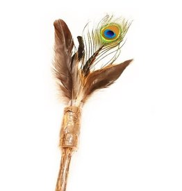 Define Planet Define Planet Peacock Feather Wand Cat Toy