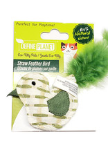 Define Planet Define Planet Straw Feather Bird Cat Toy