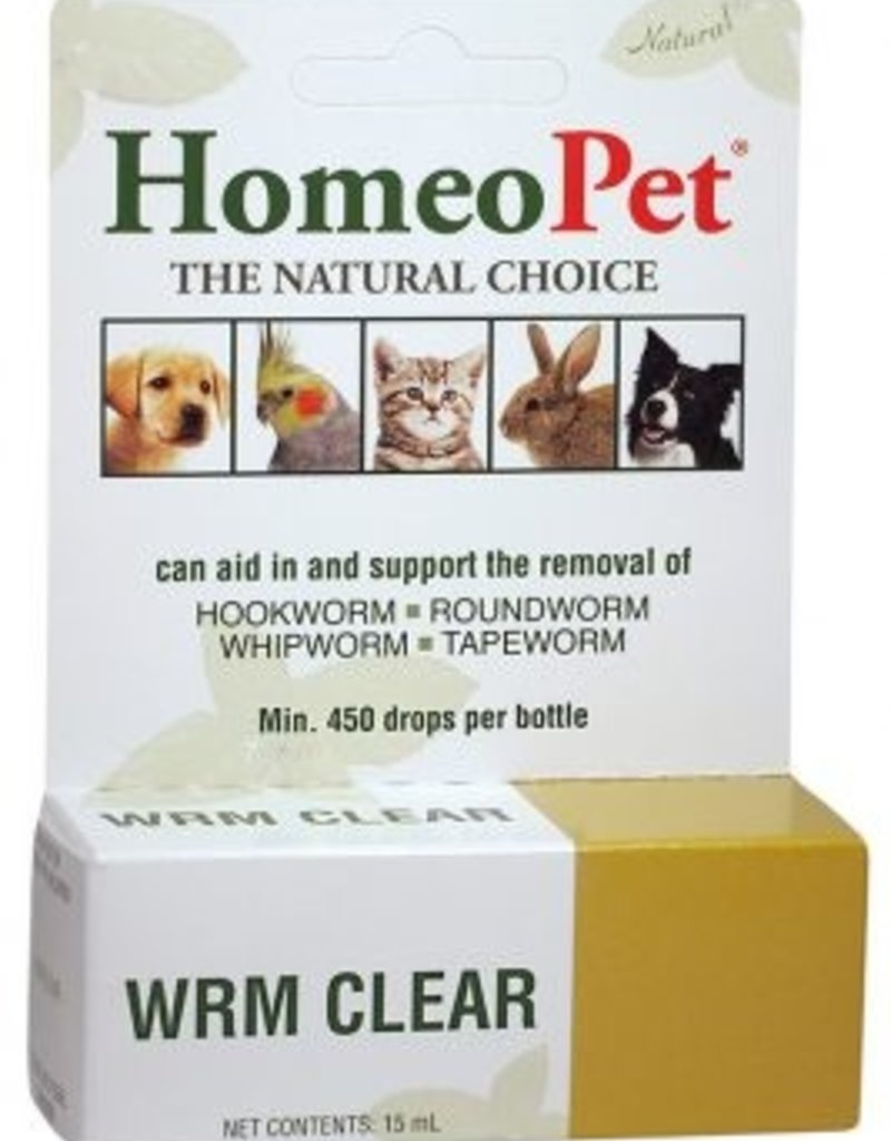 Homeopet Solutions HomeoPet Drops WRM Clear Drops 15ml