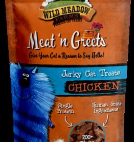 Wild Meadow Farms Wild Meadow Farms Meat 'n Greets Chicken Jerky Cat Treats 2oz