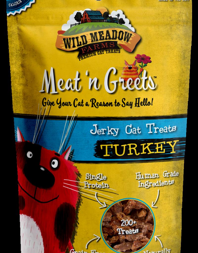 Wild Meadow Farms Wild Meadow Farms Meat 'n Greets Turkey Jerky Cat Treats 2oz