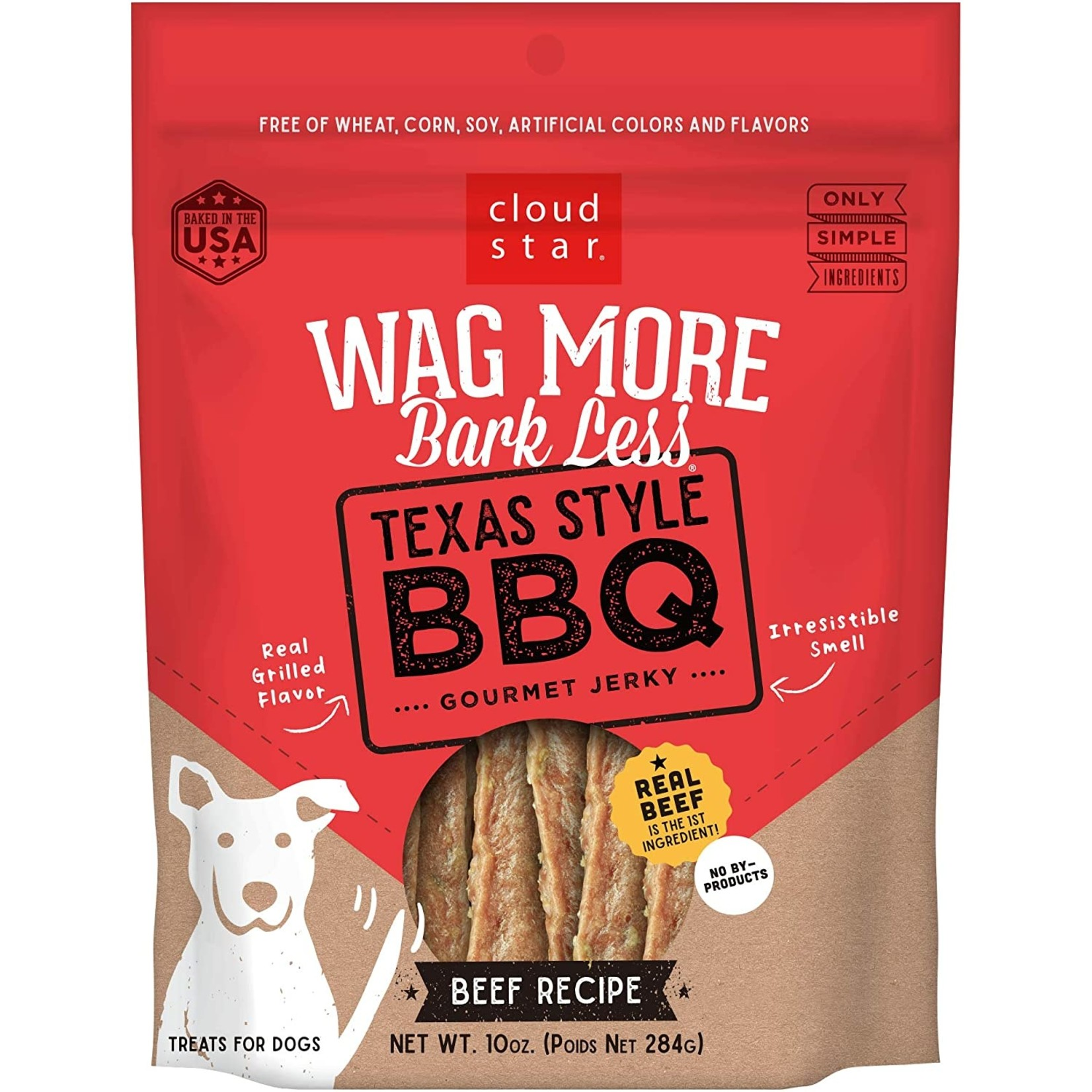 Cloud Star Wag More BBQ Beef Jerky Dog Treats 10oz