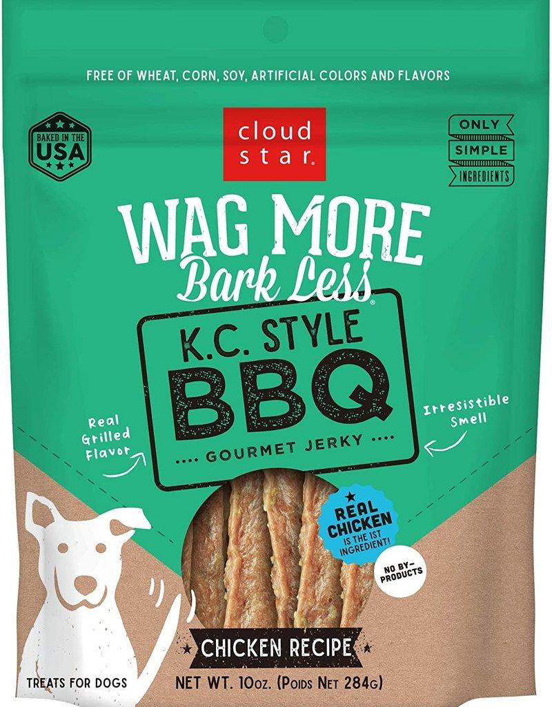 Cloud Star Wag More BBQ Chicken Jerky Dog Treats 10oz