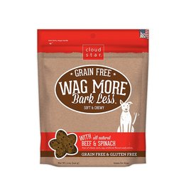 Cloud Star Wag More Soft & Chewy Grain Free Beef Dog Treats 5oz