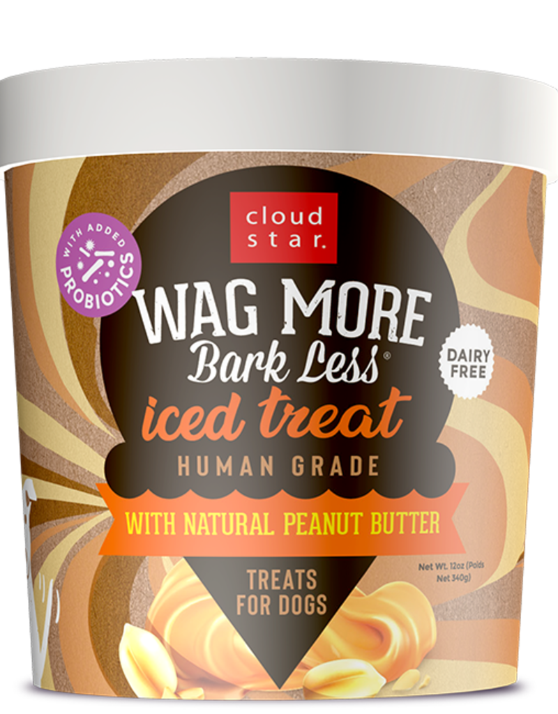 Cloud Star Wag More Bark Less Frozen Iced Treat Peanut Butter Dog Treat 12oz