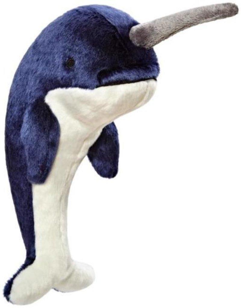 Fluff & Tuff Fluff &Tuff  Bleu Narwhal  Dog Toy