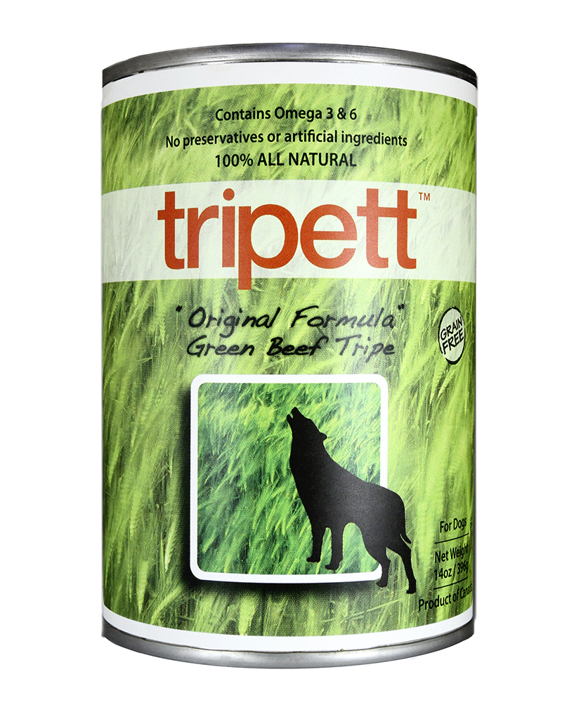Petkind Tripett Original Beef Tripe Dog Food Can 13oz