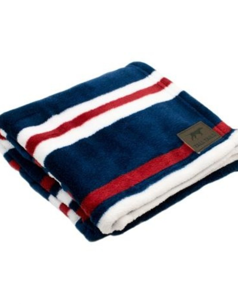 Tall Tails TALL TAILS Fleece Blanket Nautical Stripe 30x40""
