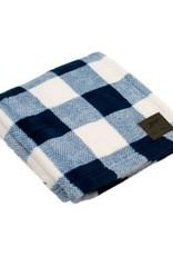 "Tall Tails TALL TAILS Fleece Blanket Navy Plaid 30x40"""