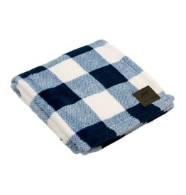 Tall Tails TALL TAILS Fleece Blanket Navy Plaid 30x40""