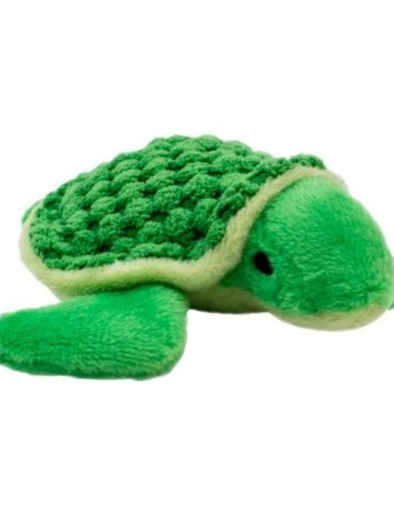 """Tall Tails TALL TAILS Plush Turtle Squeaker 4"""" Dog Toy"""