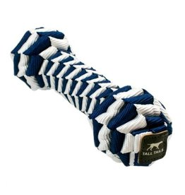 "Tall Tails TALL TAILS Braided Bone Navy 9"" Dog Toy"