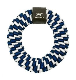"Tall Tails TALL TAILS Braided Ring Navy 6"" Dog Toy"