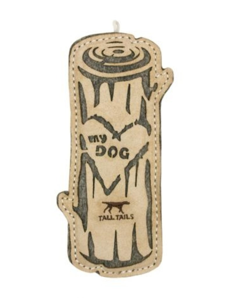 "Tall Tails TALL TAILS Natural Leather Log 9"" Dog Toy"