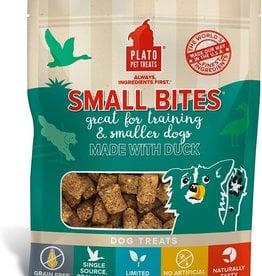 Plato Pet Treats PLATO GF Small Bites Duck Dog Treats 2.5oz