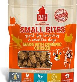 Plato Pet Treats PLATO GF Small Bites Organic Chicken Dog Treats 2.5oz