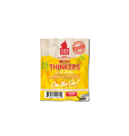 Plato Pet Treats PLATO On The Go Mini Thinkers Carrot, Turkey, & Peanut Butter Dog Treats 0.7oz