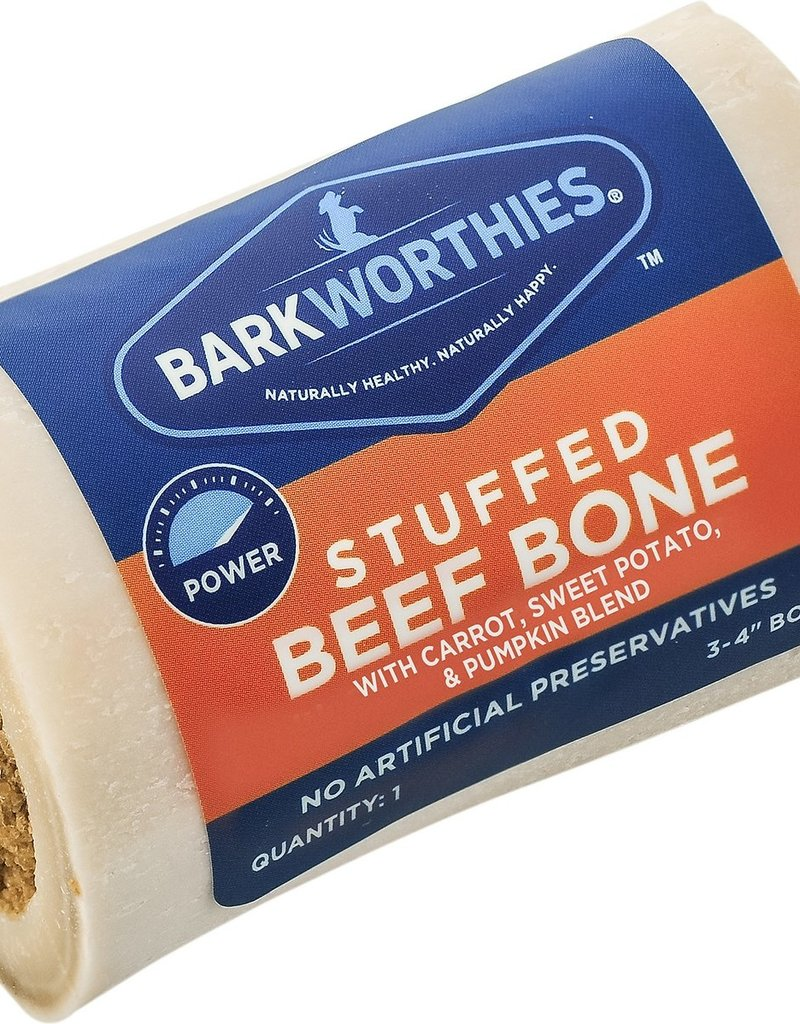 "Barkworthies Barkworthies Sweet Potato & Pumpkin Stuffed Shin Bone 5-6"""