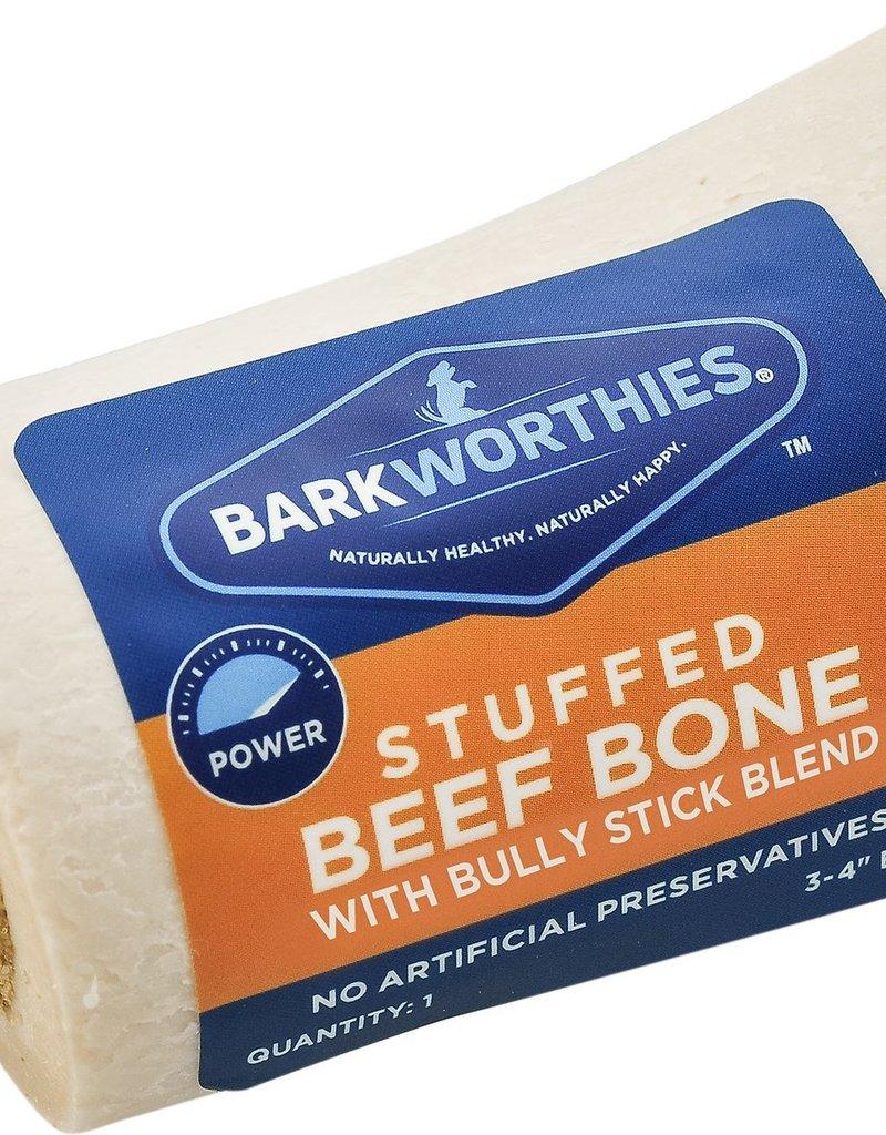 "Barkworthies Barkworthies Bully Blend Stuffed Shin Bone 5-6"""