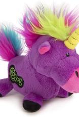 Worldwise/QPG/GoDog GoDog Purple Unicorn Dog Toy Small