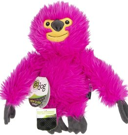 Worldwise/QPG/GoDog GoDog Fuzzy Pink Sloth Dog Toy Large